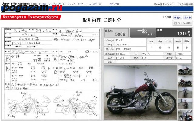 ������ Honda Steed 600   ���� � ���������� ������� ������